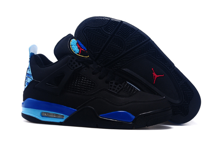 2015 Black Blue Red Jordans 4 Retro Shoes