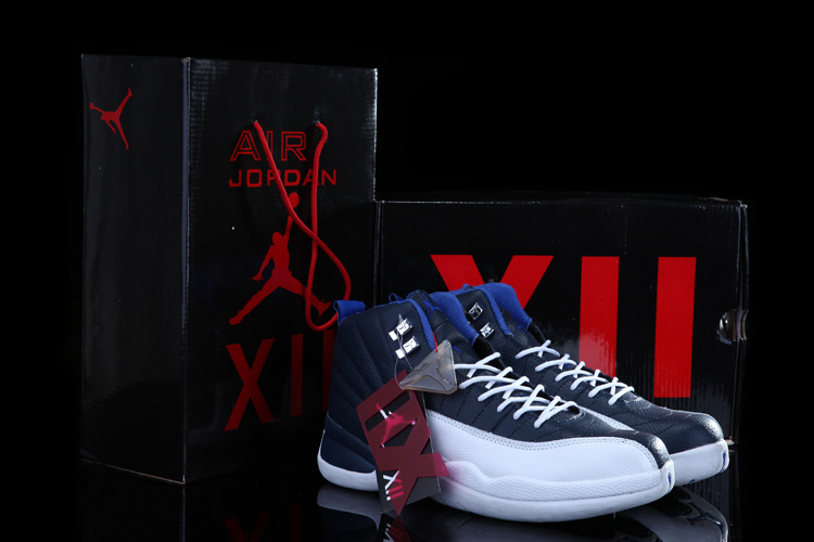 2015 Chalcedony Air Jordans 12 Classic Blue White