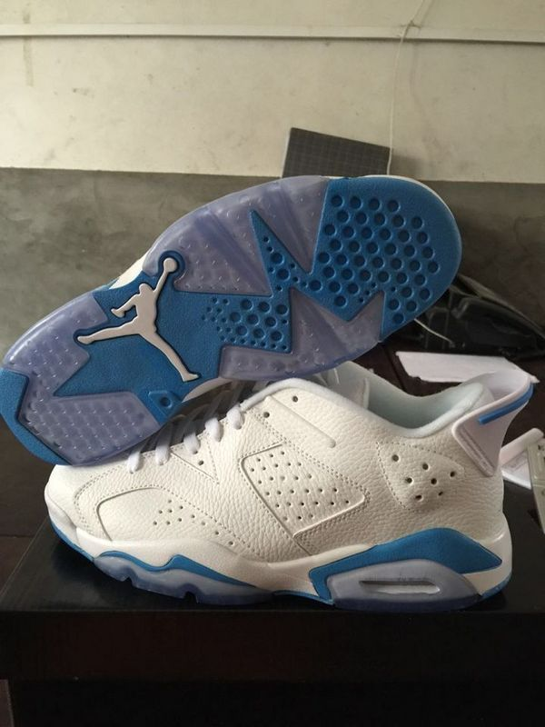 2015 Jordans 6 Low White Baby Blue Shoes