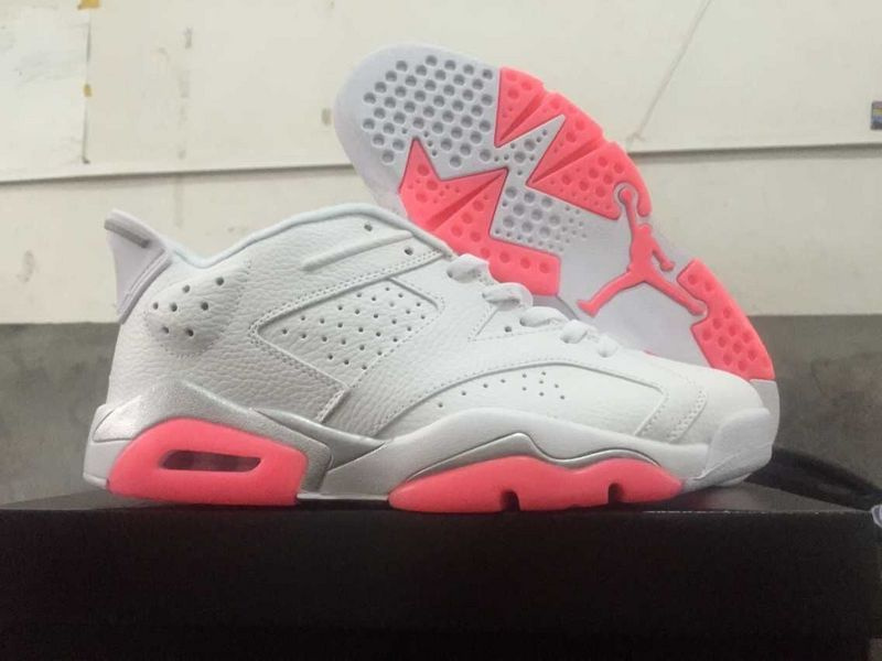 2015 Jordans 6 Low White Pink Shoes
