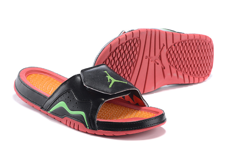 2015 Jordans 7 Retro Hydro Black Green Orange