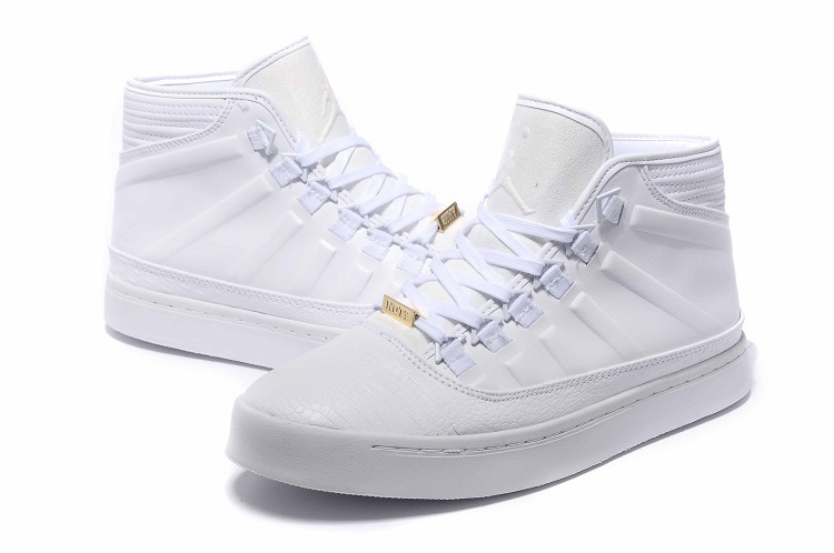 2015 Jordans Westbrook 0 1 All White Shoes