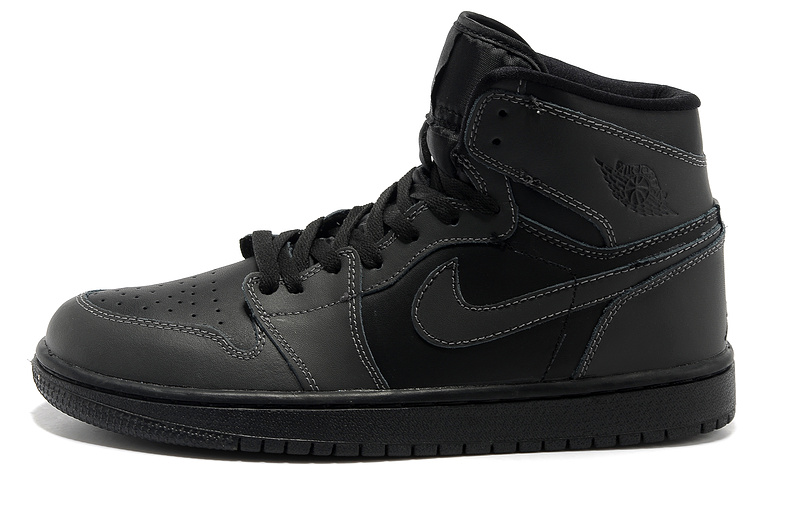 2015 Jordans 1 Retro High Black Shoes