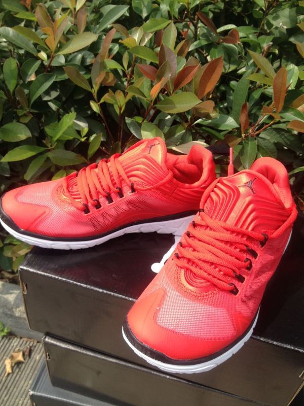 2015 Jordans Running Sneaker Red Black