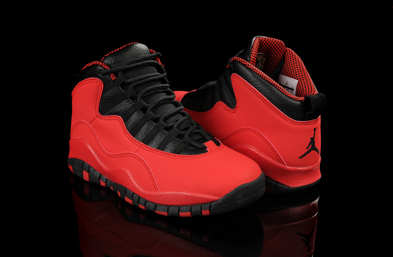 2015 Mens And Women Jordans 10 Retro Red Black