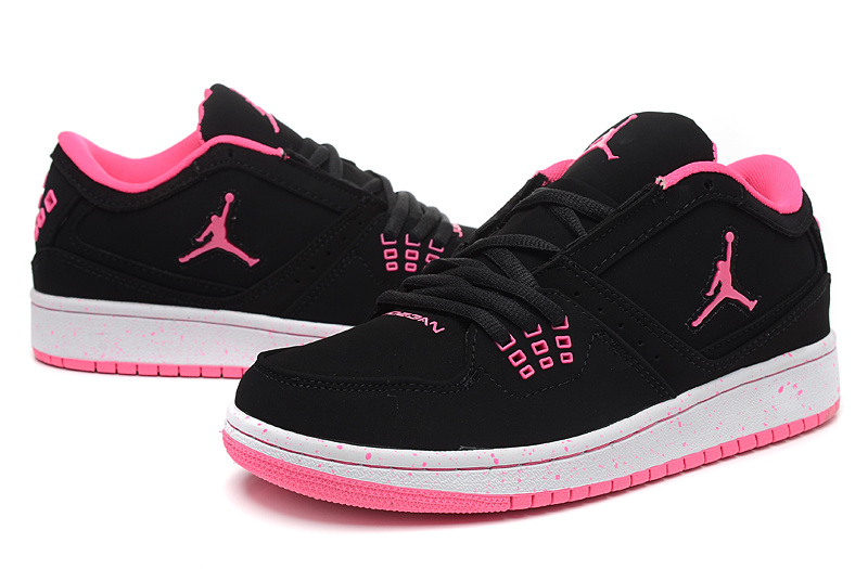 2015 New Jordans 1 Flight Low Black Red