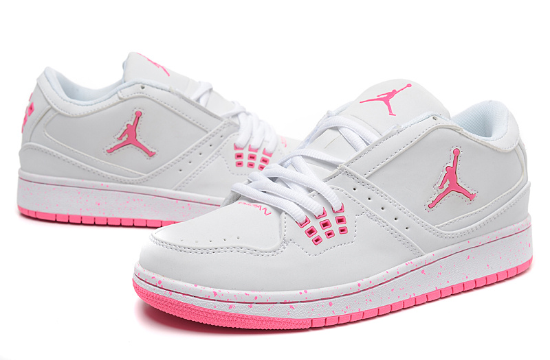 2015 New Jordans 1 Flight Low White Pink
