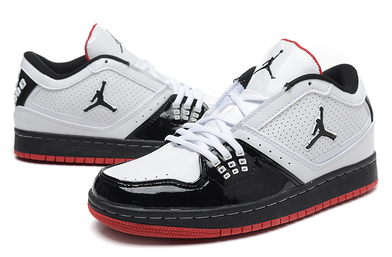 2015 New Jordans 1 Low White Black Red
