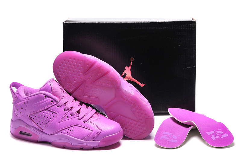 2015 New Jordans 6 All Purple Shoes For Women