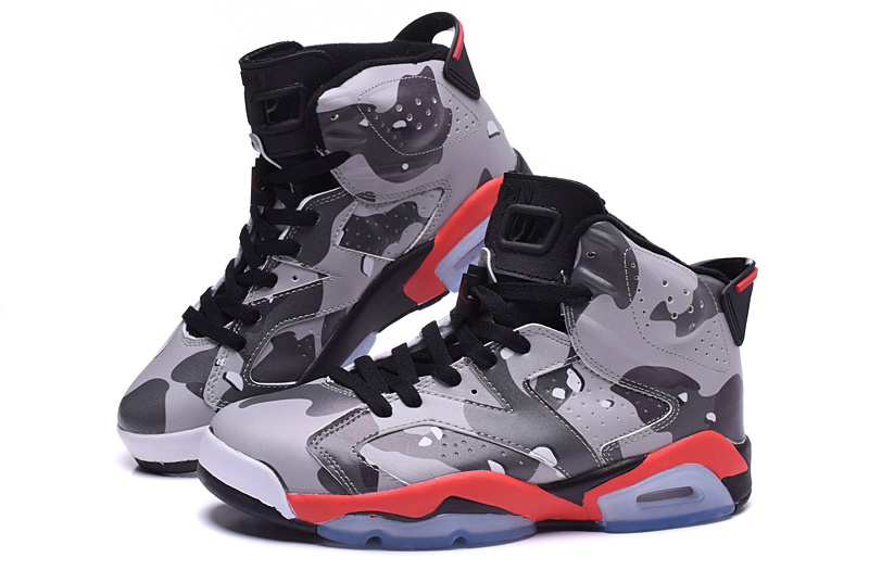 2015 New Jordans 6 Lover Army Grey Red Black