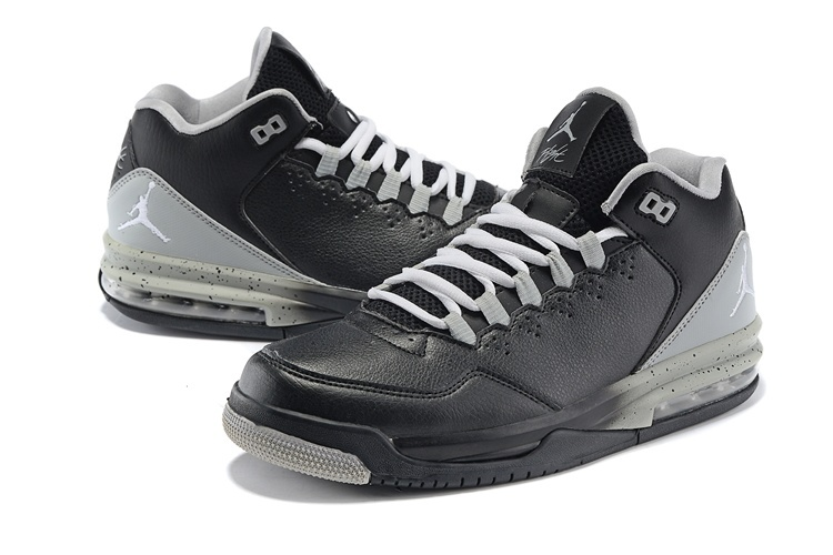 2015 New Jordans Flight Original Black Grey Jumpman