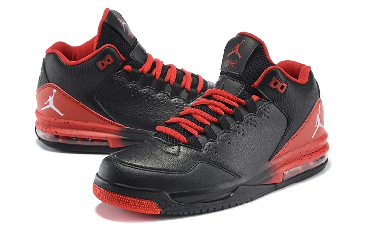 2015 New Jordans Flight Original Black Red Jumpman