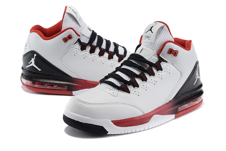 2015 New Jordans Flight Original White Black Red White Jumpman
