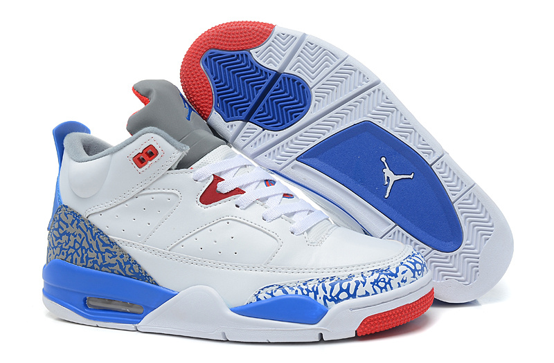 2015 Original Air Jordans Spizike Retro White Blue Red