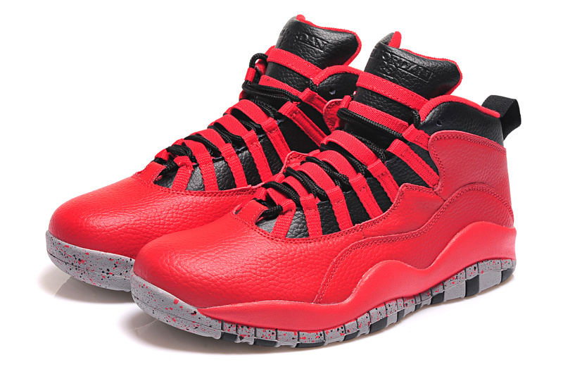 2015 Real Jordans 10 Retro Red Black Shoes