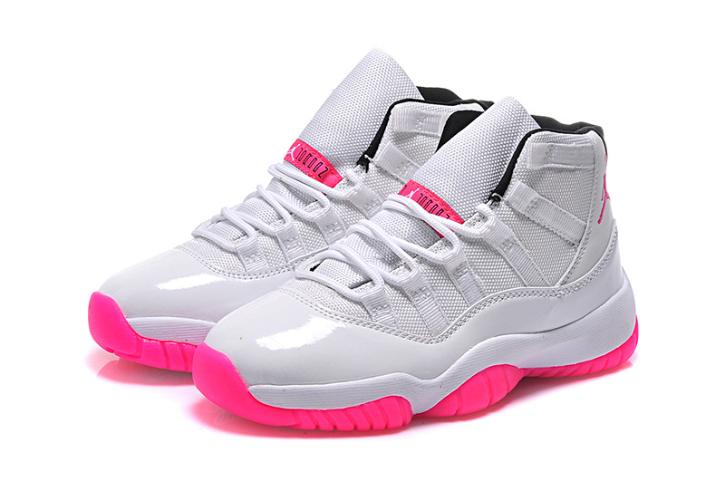 2015 Real Jordans 11 Low White Pink For Women
