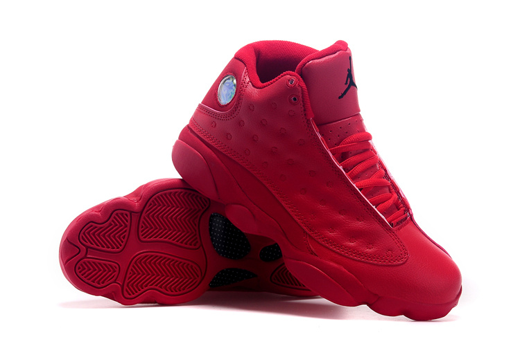 2015 Real Jordans 13 Retro All Red Shoes