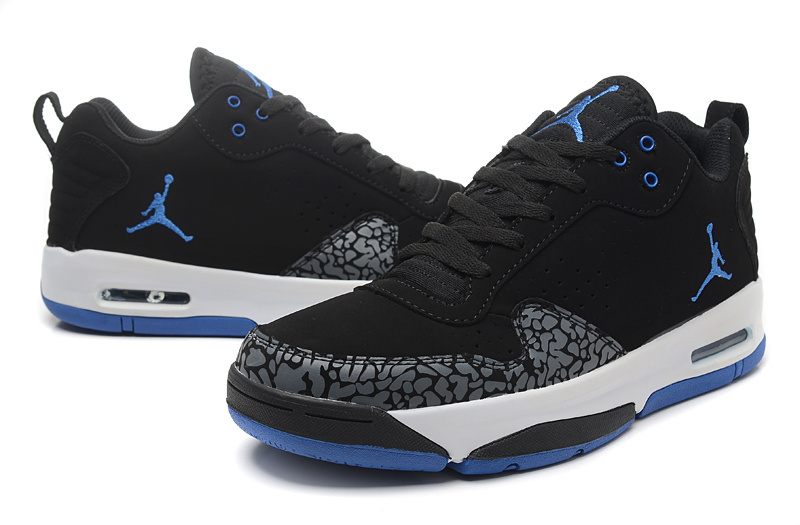 2015 Real Jordans Cement Black Blue White Shoes