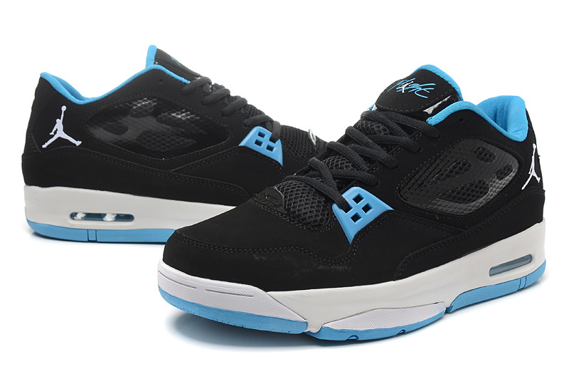2015 Real Jordans Flight 23 RST Low Black Baby Blue Shoes