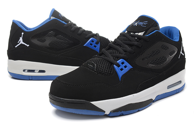 2015 Real Jordans Flight 23 RST Low Black Blue Shoes