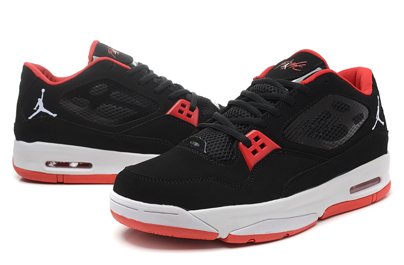 2015 Real Jordans Flight 23 RST Low Black Red Shoes