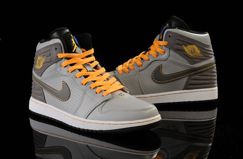 2015 Retro Air Jordan 1 Retro 93 Grey Yellow
