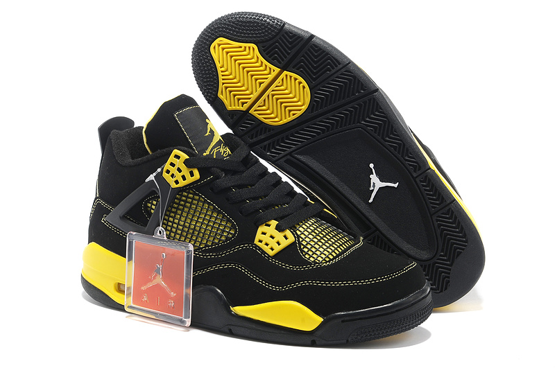 2015 Retro Air Jordan 4 Black Yellow