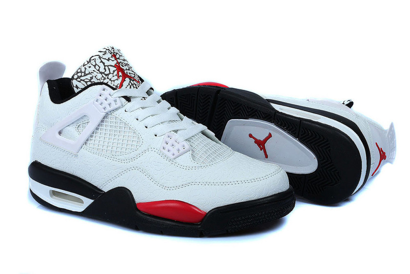 2015 Retro Jordans 4 Temporal Rift by Original White Black Red