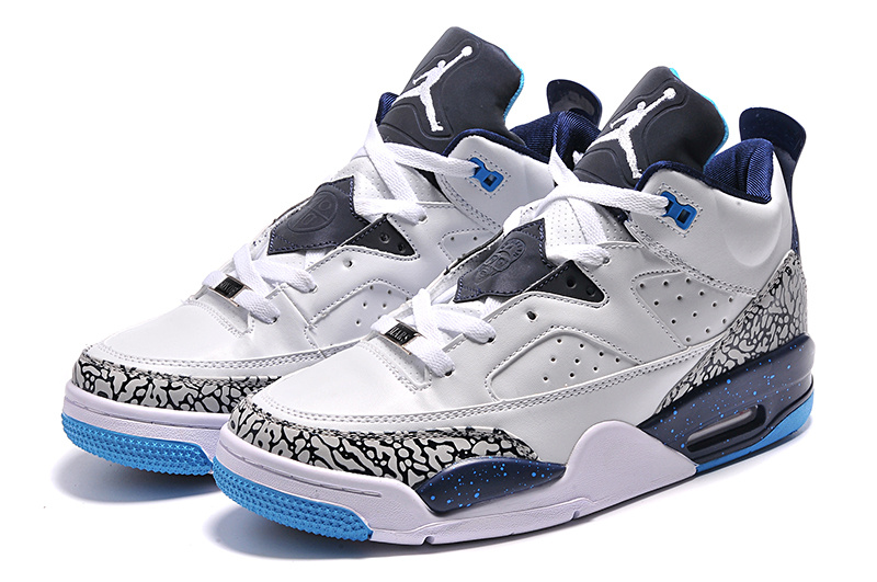 2015 White Blue New Jordan Sons of Mars Low Shoes