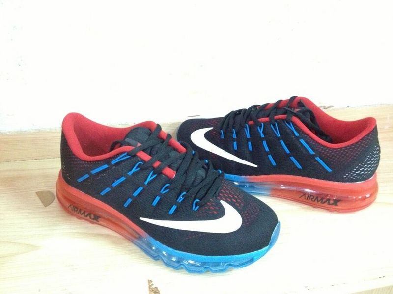2016 Air Max Black Blue Red Running Shoes