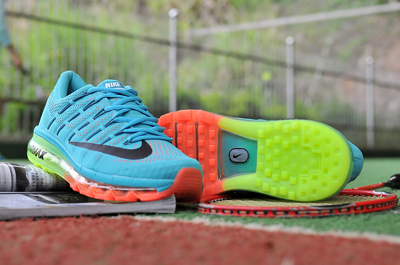 2016 Air Max Blue Green Pink Running Shoes