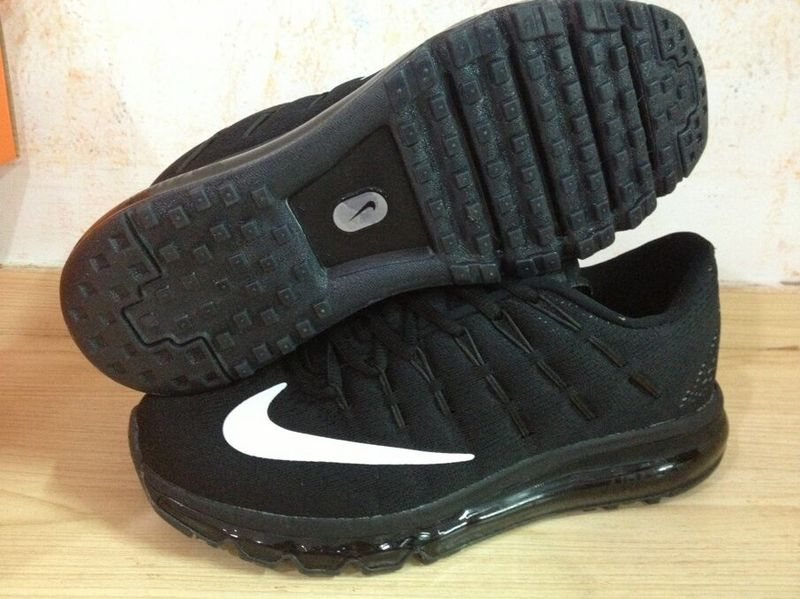 2016 Air Max Cushion Black White Running Shoes