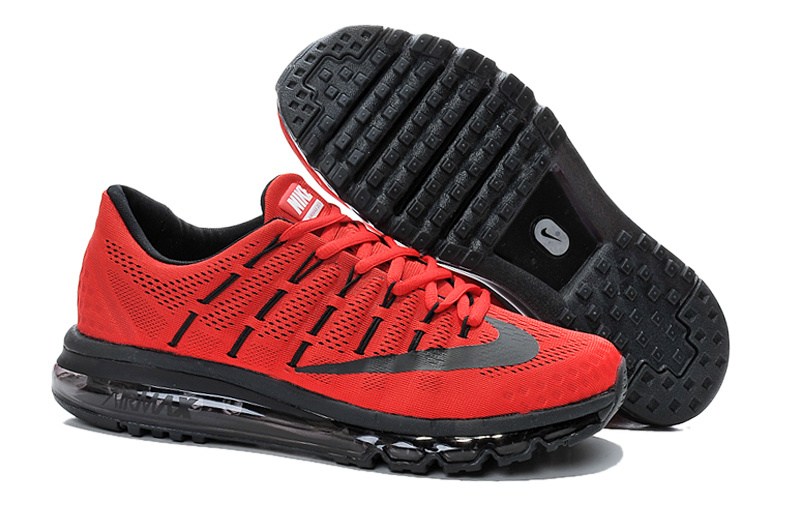 2016 Air Max Red Black Running SHoes