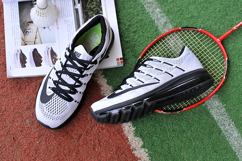 2016 Air Max White Black Running Shoes