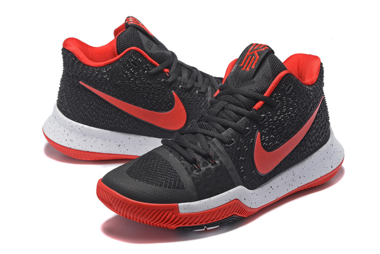 2017 New Nike Kyrie 3 Black Red White Basketball Shoes