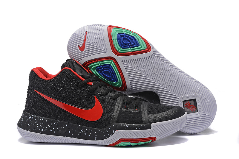 2017 Nike Kyrie 3 Black Red Basketball Shoes