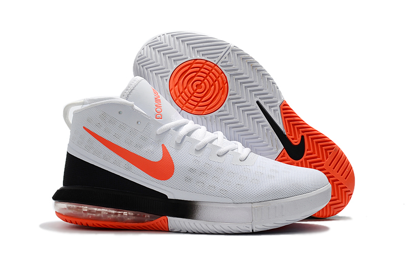 2018 NIKE AIR MAX DOMINATE EP WHITE BLACK ORANGE SHOES