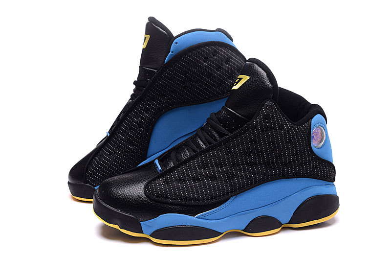 2016 Air Jordans CP3 Hornets Black Blue Yellow Retro Sneaker