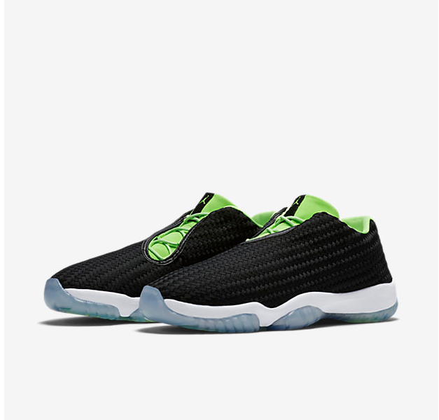 New Air Jordan Future Low GG Gost Gren Black Sneaker