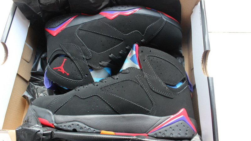 Air Jordans 7 Retro Black Purple Shoes