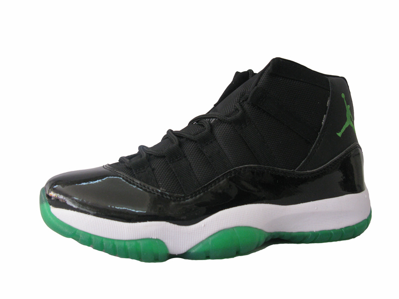 Air Jordans 11 Classic Black White Green