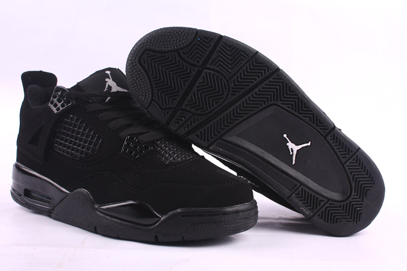 Air Jordans 4 Retro Dark Black Shoes