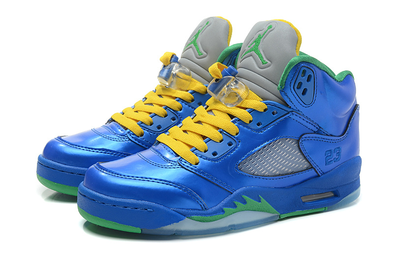 Air Jordans 5 Original PEs Blue Yellow Green