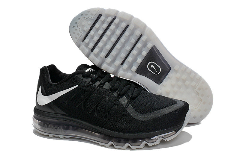 Air Max 2015 Black White Men Running Shoes