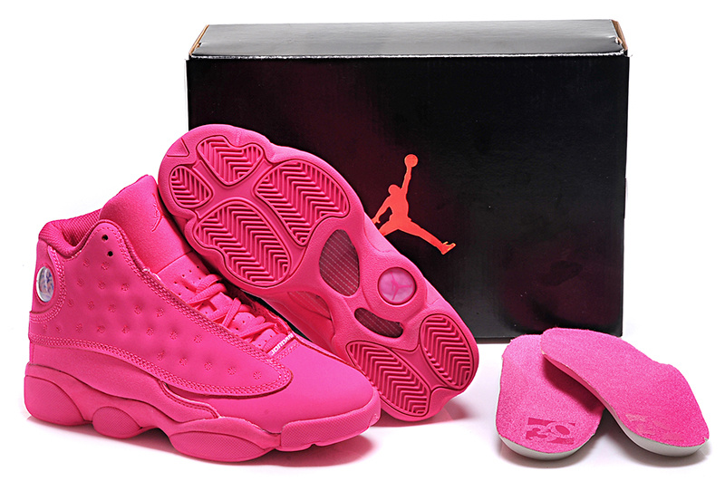 All Pink Jordans 13 Retro Shoes For Women