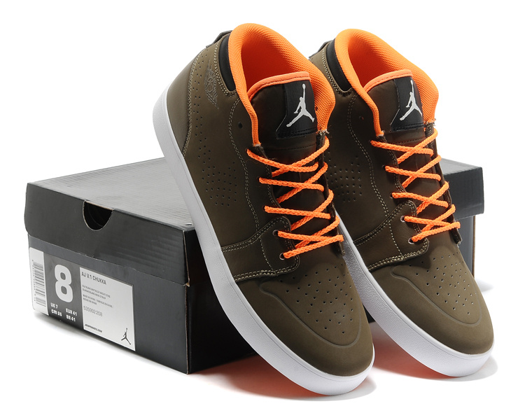 Casual Jordans 1 Retro Coffe Orange Sneaker