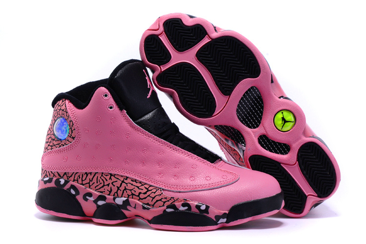 Cheetah Print Jordans 13 Pink Black Shoes For Women