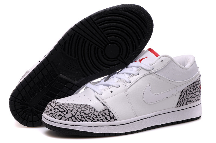 Cheetah Print Jordans 1 Retro Low White Red