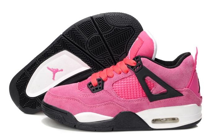 Classic Air Jordan 4 Retro Pink White For Women_01