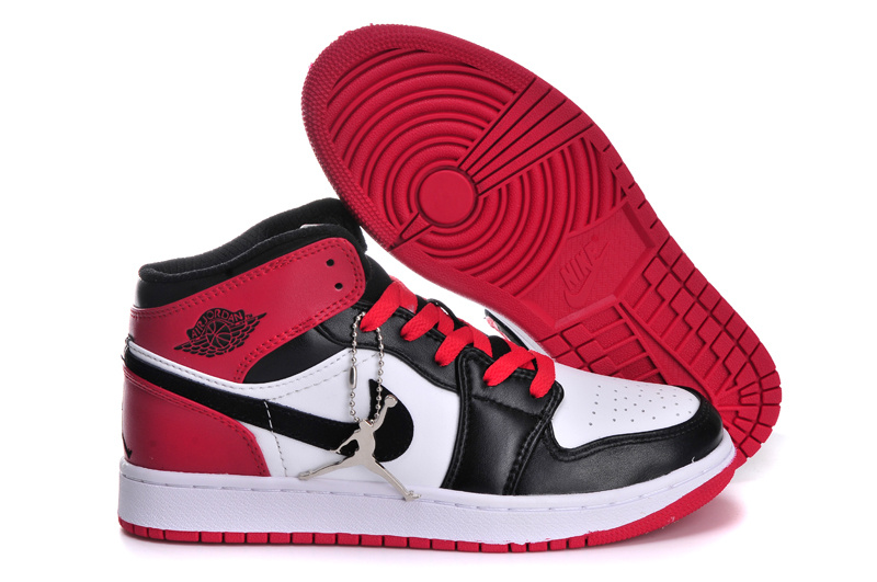 Classic Jordan 1 Retro Black Red White For Women_01